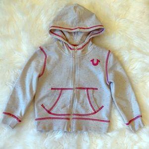 EUC 3T True Religion Full Zip Hooded Jacket!